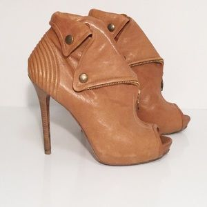 Alexander McQueen Leather Faithful Ankle Booties
